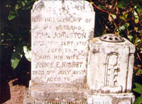 Memorial Stone to John Johnston & Annie Nisbet